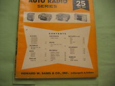 SAMS AUTO RADIO MANUAL(AR25) FIRST EDITION PRINTING-JULY 1964 AND EXTRA