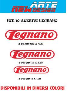 KIT 10 ADESIVI VENILE sticker PRESPAZIATI BICI LEGNANO