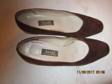 Preowned Women's Size 5 Brown Suede Bally Shoes - Switzerland