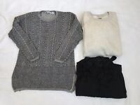 Lot Of 3 Items Size L Aerie Sweater Eight Eight Eight Sweater And Dress Cover Up