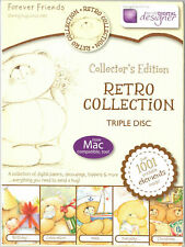 FOREVER FRIENDS - Retro Collection - 3 Disc CD-Rom (Decoupage / Toppers)