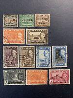 1935-1962 Malaya Selangor,mix used stamps
