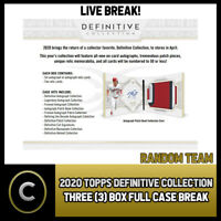 2020 TOPPS DEFINITIVE COLLECTION 3 BOX (FULL CASE) BREAK #A776 -  RANDOM TEAMS