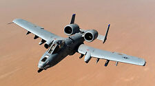 """A-10 WARTHOG THUNDERBOLT MILITARY JET  24"""" x 43""""  LARGE HD WALL POSTER PRINT."""