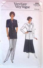1987 Very Easy VOGUE #9885 Sewing Pattern Misses' Jacket Skirt Pants Sz 6-8-10
