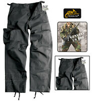 HELIKON BDU TROUSERS TACTICAL BLACK BATTLE UNIFORM CARGO MENS COMBAT PANTS SFU