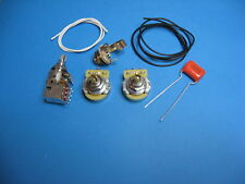 JAZZ BASS WIRING KIT WITH SERIES PARALLEL PUSH PULL POT - FATTEN UP YOUR TONE!