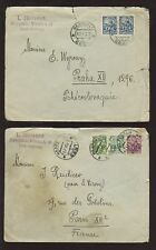 ESTONIA HAAPSALU 1927 20M to FRANCE + CZECH... 2 COVERS