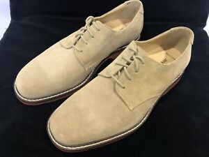 NEW! Johnston & Murphy 20-7780 Suede Leather Beige Dress Shoes Men's Size 8.5