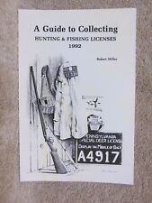 1992 Guide To Collecting Pennsylvania Hunting & Fishing Licenses