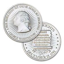 2 oz High Relief 2nd Amendment Bill of Rights w/ George Washington Bust .999 AG