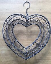 Metal Heart Shaped Flower Wreath Frame