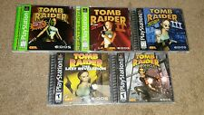 Tomb Raider 1 2 3 Last Revelation Chronicles PlayStation Lot 5 Games Complete