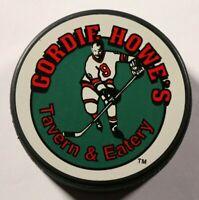 Gordie Howe's Tavern & Eatery Hockey Puck Detroit Red Wings Michigan