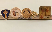 Red Cross Hospice Church Angel Cross Lot Of Five Lapel Pins New Old Stock