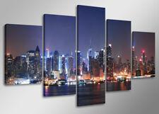 Bild 5 tlg NY City Leinwand 160x80cm XXL Bilder Nr 5505`  Visario