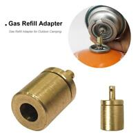 CylinderFilling Butane Canister Gas Refill Adapter Copper Outdoor Camping uaCRWO