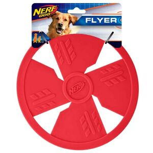 Nerf Dog Flyer 10in Classic TPR Flyer - Red