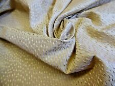 "100% Silk Micro Stripe Jacquard Dot~Pineapple & Pink~18""x54""~Do ll Fabric"