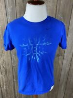 Nike The Nike Tee Mens Blue Short Sleeve T Shirt Size Medium The Athletic Cut