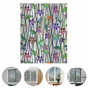 Frosted Stained Glass Window Film Self Adhesive Sticker Door Privacy Home Decor