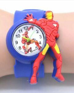 Iron Man Kids Silicone Slapband Watch Slap Band Ironman