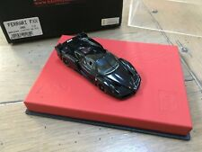 BBR 1/43 FERRARI FXX / Enzo Gloss Black large leather base limited 03/20 RARE