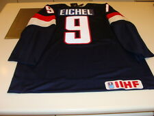 Team USA World Juniors Hockey Jersey IIHF Jack Eichel Navy Blue Medium WJC New