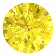 2.9 MM CERTIFIED Round Fancy Yellow Color VVS 100% Real Loose Natural Diamond #F