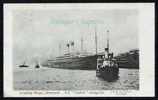 1906 White Star Line SS Cedric Liverpool Landing Stage Postcard C581
