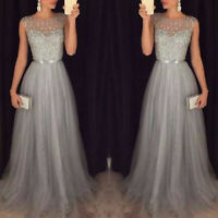 Women Glitter Formal Dress Evening Party Ladies Prom Cocktail Bridesmaid Dresses