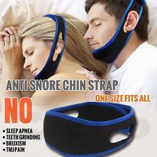 Snore Stopper Stop Anti Snoring Chin Strap Belt Sleep Apnea Cpap Aid Solution
