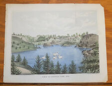 1862 Antique COLOR Print//NEW YORK CITY, VIEW IN CENTRAL PARK/b
