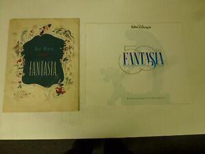 Original Fantasia Souvenir Program and one 50th Anniversary and a BONUS Disney
