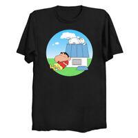 Crayon Nuts Shin-chan Shiro x Peanuts Snoopy House Black T-Shirt Charlie Brown
