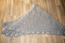 Hand knitted Orenburg style mohair scarf/shaul/baby wrap/photo prop