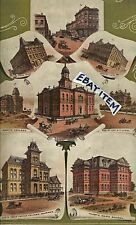 1890 Sherman Texas COLOR LITHOGRAPH Opera House Capt. O.T. LYON Austin College