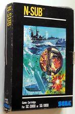 VINTAGE RETRO GAME CARTRIDGE  SC-3000 SG-1000 SEGA N-SUB 1983