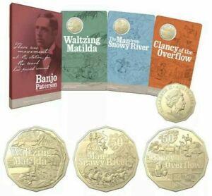 2020 50c Banjo Patterson Treasured Australian Poetry  in Mint Issued Folder