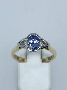 18K Gold Ceylon Sapphire and Diamond Ring 50% Off