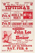 More details for john lee hooker concert window poster - tipitina's new orleans 1982 - reprint