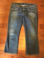 Citizens Of Humanity Sz 28 Willow Creek #098 Stretch Blue Wash Crop Capri Jeans