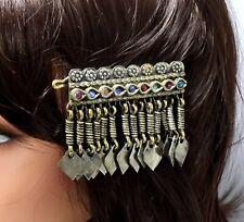Kuchi Tribal Vintage Hair Pin Pendant Headpiece Head Clip Ethnic Dance Accessory