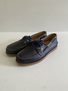 Sperry Top Sider Gold Cup Navy Leather Boat Loafer Shoes Mens 10 New Condition