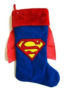 19 In  Superman Red Blue Christmas Stocking