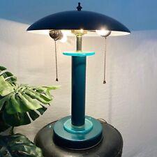 Retro Flying Sauser Table Lamp Atomic Mushroom Shade Green MCM mid century