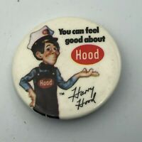 "Vintage Harry Hood Dairy Advertising 1-3/4"" Button Pin Pinback Rare Version Q7"