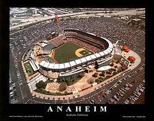 Los Angeles Angels Stadium FROM ABOVE MLB Baseball Premium Aerial Poster Print