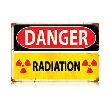 Vintage Style Danger Radiation Sign 18 in. x 12 in.
