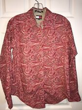 Tommy Hilfiger Ladies Size 6 Pinkish Paisley Shirt A8-10
